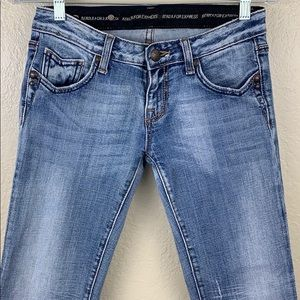 Express Jeans - Rerock for Express Boot Jeans 2R Light Blue Denim